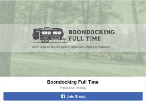facebook boondocking group