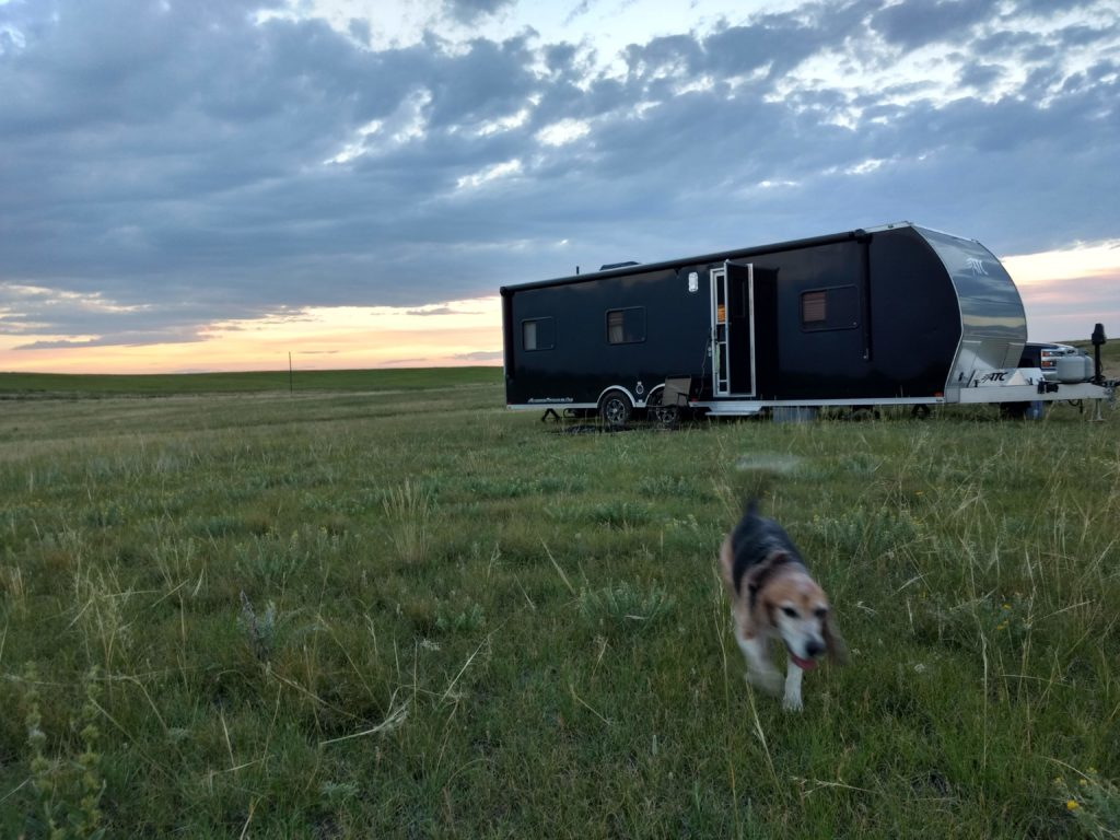 living in a motorhome on your own land